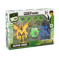 Ben10 2 светящиеся фигурки со звуком 5 серии с часами и дисками