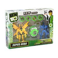 Ben ten Бен Тен  2 светящиеся фигурки со звуком 5 серии с часами и дисками