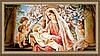 Образ гобеленовый в багетной раме Богородица с младенцем 300х600мм №G106