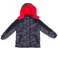 Куртка подростковая для мальчиков зимняя IXTREME Camouflage 4 года