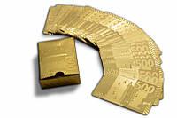 Карты игральные 500 евро золото