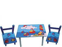Столик детский и 2 стульчика( E 03-2100)Кораблики