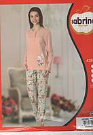Пудровая женская пижама Sabrina Турция с длинным рукавом