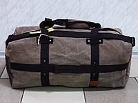 .Большая  дорожная  брезентовая сумка SHUNYU 166 коричневая