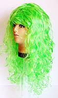 Парик карнавальный зелёный