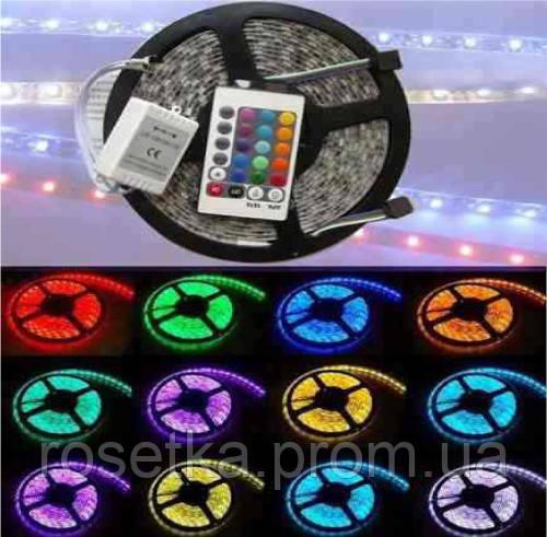 Світлодіодна стрічка-гірлянда гнучка, комплект SMD 5050 RGB