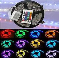 Світлодіодна стрічка-гірлянда гнучка, комплект SMD 5050 RGB, фото 1