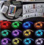 Світлодіодна стрічка-гірлянда гнучка, комплект SMD 5050 RGB, фото 5