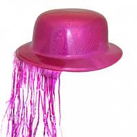 Шляпа Котелок Пластик с дождиком