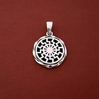 Славянский серебряный оберег Черное солнце