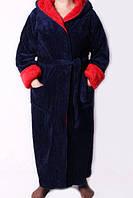 Теплый длинный мужской халат с поясом