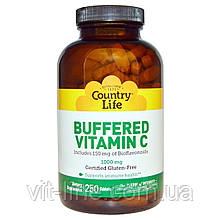 Country Life, Buffered Vitamin C, 1000 mg, 250 Tablets