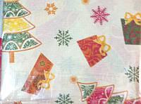 Нарядная рождественская, новогодняя скатерть с подарком