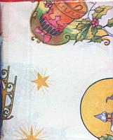 Нарядная рождественская, новогодняя скатерть с колокольчиком