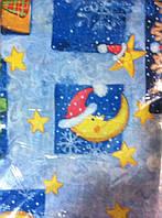 Нарядная рождественская, новогодняя скатерть с луной