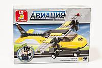"""Конструктор SLUBAN """"Тренировочный самолет"""" 110 дет, M38-B0360"""