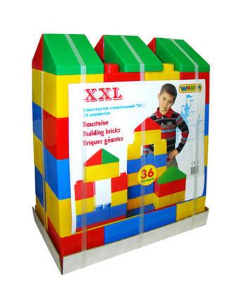 Конструктор строительный 36 элементов XXL Wader 37527, фото 2