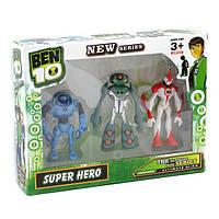 Ben10 3 светящиеся фигурки со звуком 5 серии - Водяная Сила и Ульти Эхо-Эхо + Супер Большой