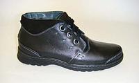 Мужские зимние кожаные ботинки ТМ Bistfor мод 28016