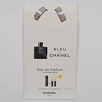 Мини парфюм с феромонами Chanel Bleu de Chanel в подарочной упаковке 3x15 ml