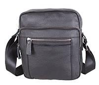 Мужская кожаная сумка через плечо черная