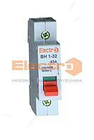 Выключатель нагрузки ВН 1-32 1Р 40A 230B/400В Electro