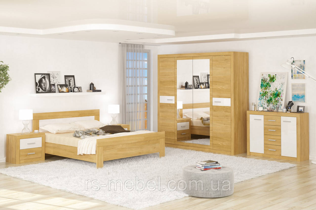 """Модульная спальня """"Квадро"""" (Мебель-Сервис)"""
