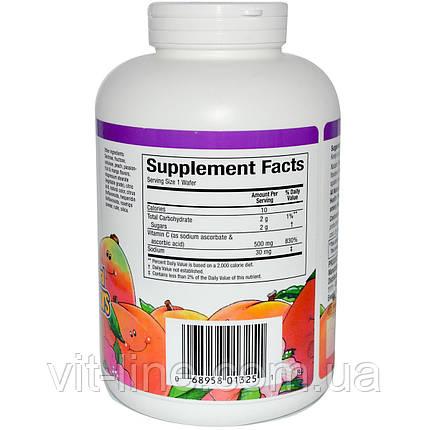 Natural Factors, Витамин С 500 мг со вкусом персика, маракуйи и манго, 180 жевательных таблеток, фото 2