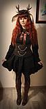 Парик  длинный темно-рыжий/медный каскад волнистый 62 см, фото 2