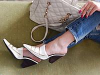 Сабо женские летние кожаные № 6811
