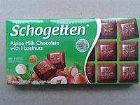 Шоколад молочный Шогеттен Schogetten Alpine milk chocolate with Hazelnuts с орехом 100г.