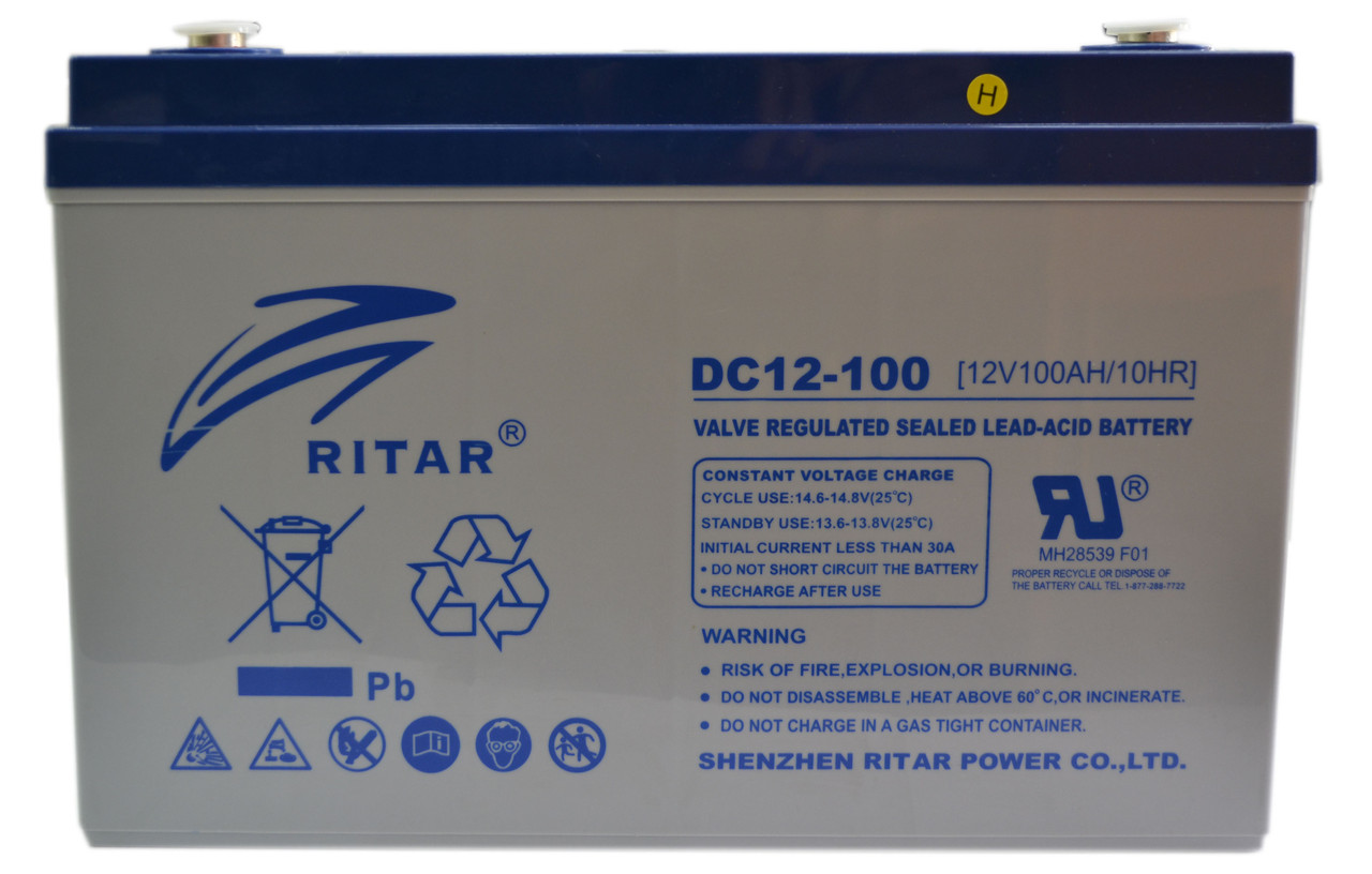 Аккумулятор RITAR DC12-100 12V 100Ah, мультигелевый (AGM) для ИБП