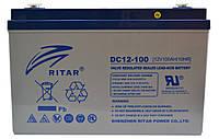Аккумулятор RITAR DC12-100 12V 100Ah, мультигелевый (AGM) для ИБП, фото 1