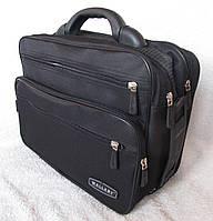 Сумка мужская с удобной пластиковой ручккой портфель для документов А4 папка в2651 черный 35х26х17см