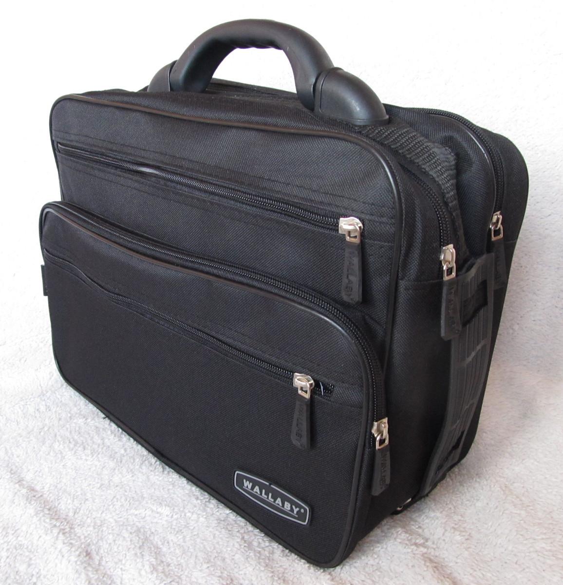 58e2625fe26e Мужская сумка Wallaby 2651 черная барсетка через плечо папка портфель А4  35х26х17см - Интернет-магазин