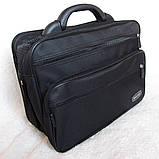 Сумка мужская с удобной пластиковой ручккой портфель для документов А4 папка в2651 черный 35х26х17см, фото 2