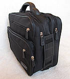 Сумка мужская с удобной пластиковой ручккой портфель для документов А4 папка в2651 черный 35х26х17см, фото 3