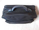 Сумка мужская с удобной пластиковой ручккой портфель для документов А4 папка в2651 черный 35х26х17см, фото 6