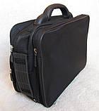 Сумка мужская с удобной пластиковой ручккой портфель для документов А4 папка в2651 черный 35х26х17см, фото 8
