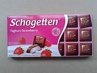 Шоколад молочный Шогеттен Schogetten Yoghurt-Strawberry с клубничным йогуртом 100г
