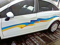 Брендирование наклейки на авто