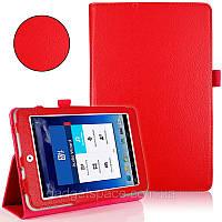 Красный чехол для ASUS MeMO Pad 8 ME180A из синтетической кожи.