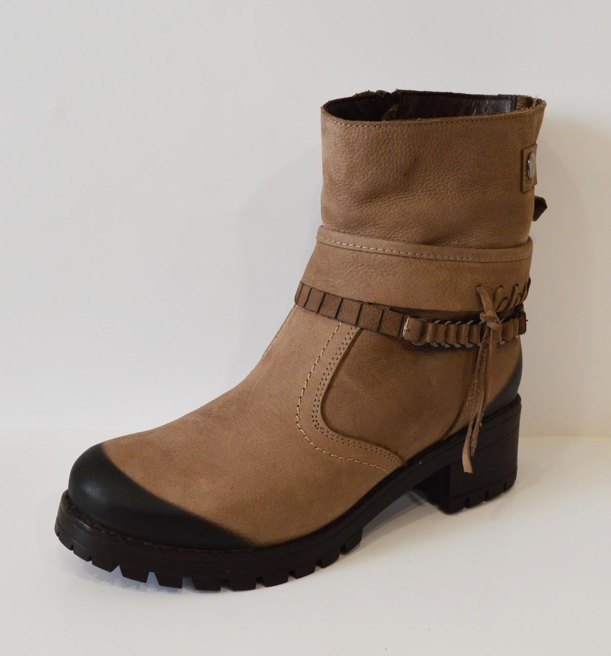 Бежевые женские ботинки Alpino 4055