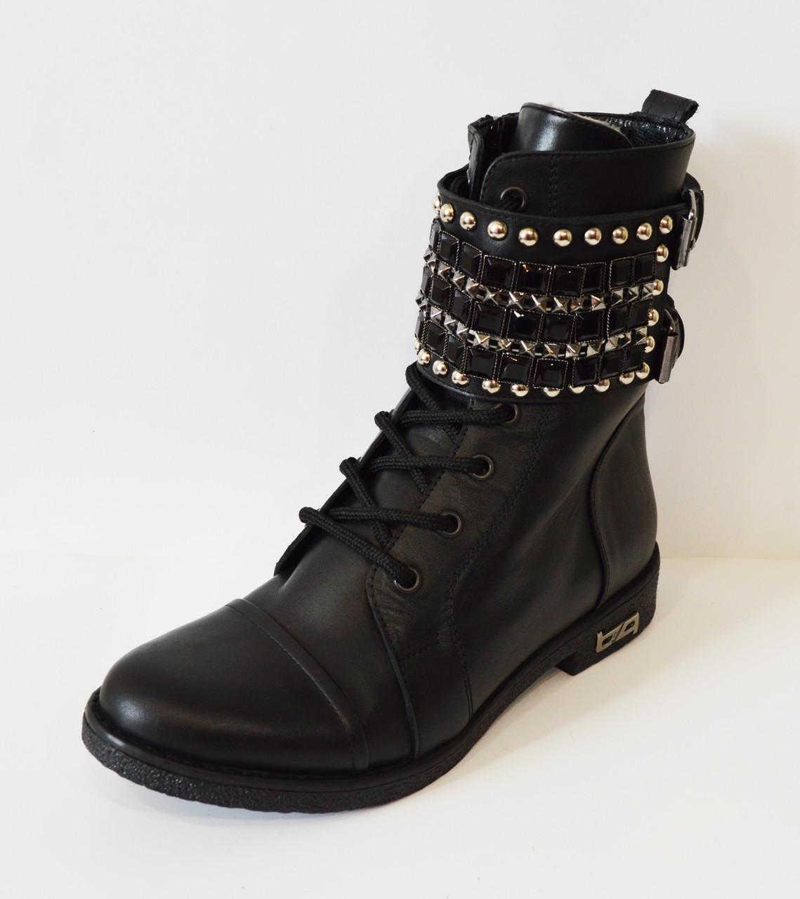 Кожаные зимние ботинки Aquamarine 933-12
