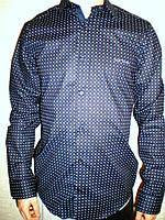Рубашка Paul Smith синяя модная длинный рукав Турция