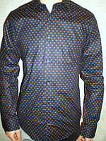 Рубашка Calvin Klein стильная длинный рукав натуральная Турция