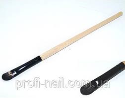 Скошенная кисть для век деревянная ручка