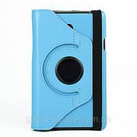 Вращающийся голубой чехол для ASUS FonePad ME372CG(ME373) из синтетической кожи.
