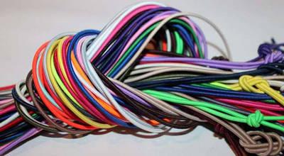 Шнур резинка цветной