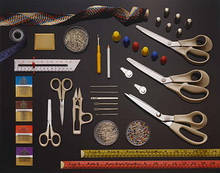 Ножницы, вспарыватели, шило, иголки швейные и машинные